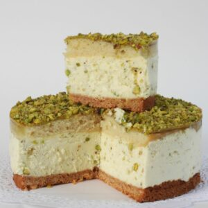 Mascarpone Cake with Pistachios 1 pc