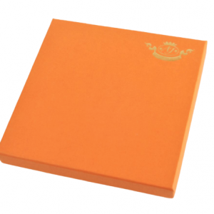Luxury box 190X190 mm., 21 pcs. 360 g (orange)