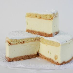 Mascarpone cheese cake with pineapple pieces 1 pc
